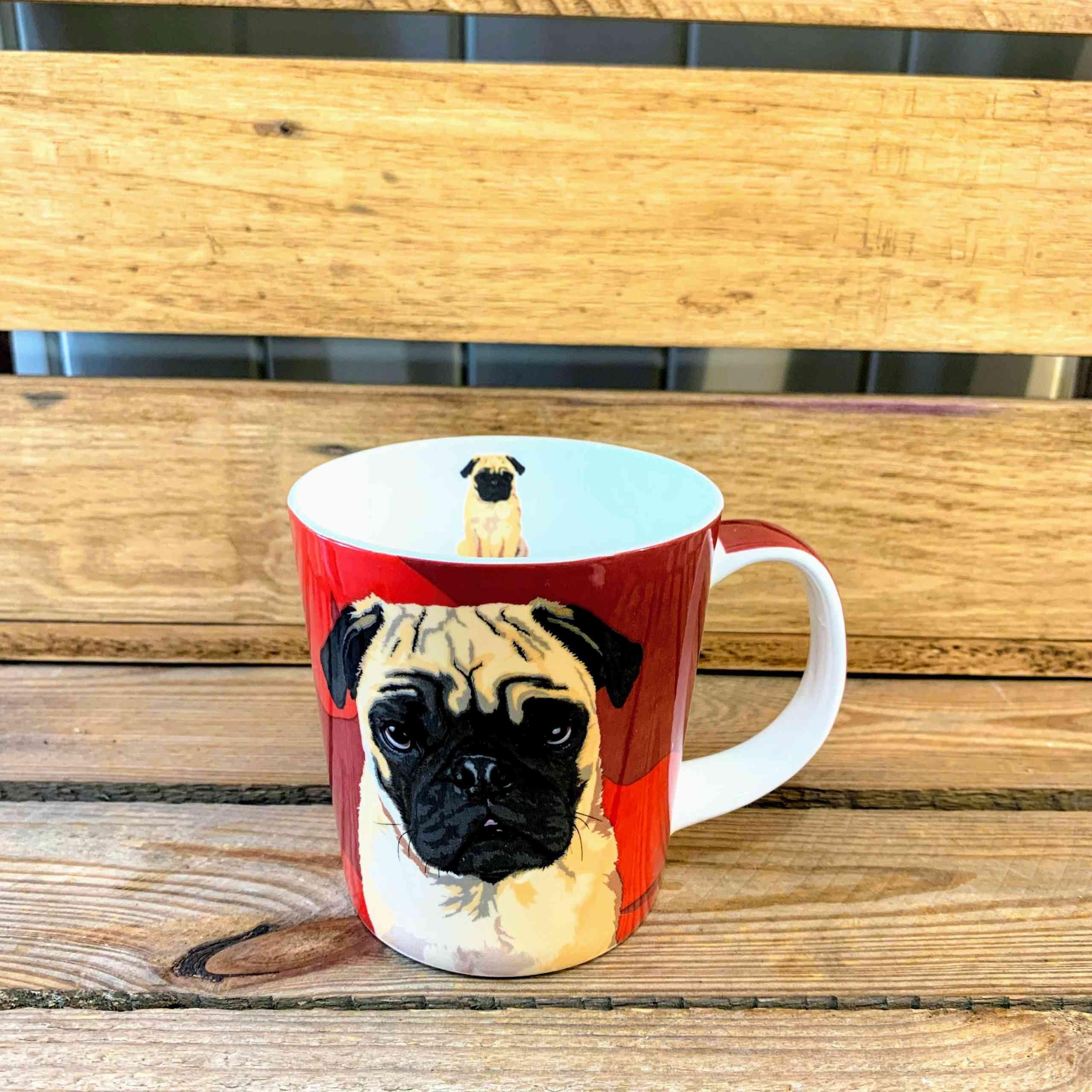 Leslie Gerry Pug Mug