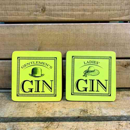 Ladies And Gentlemen Gin Coasters