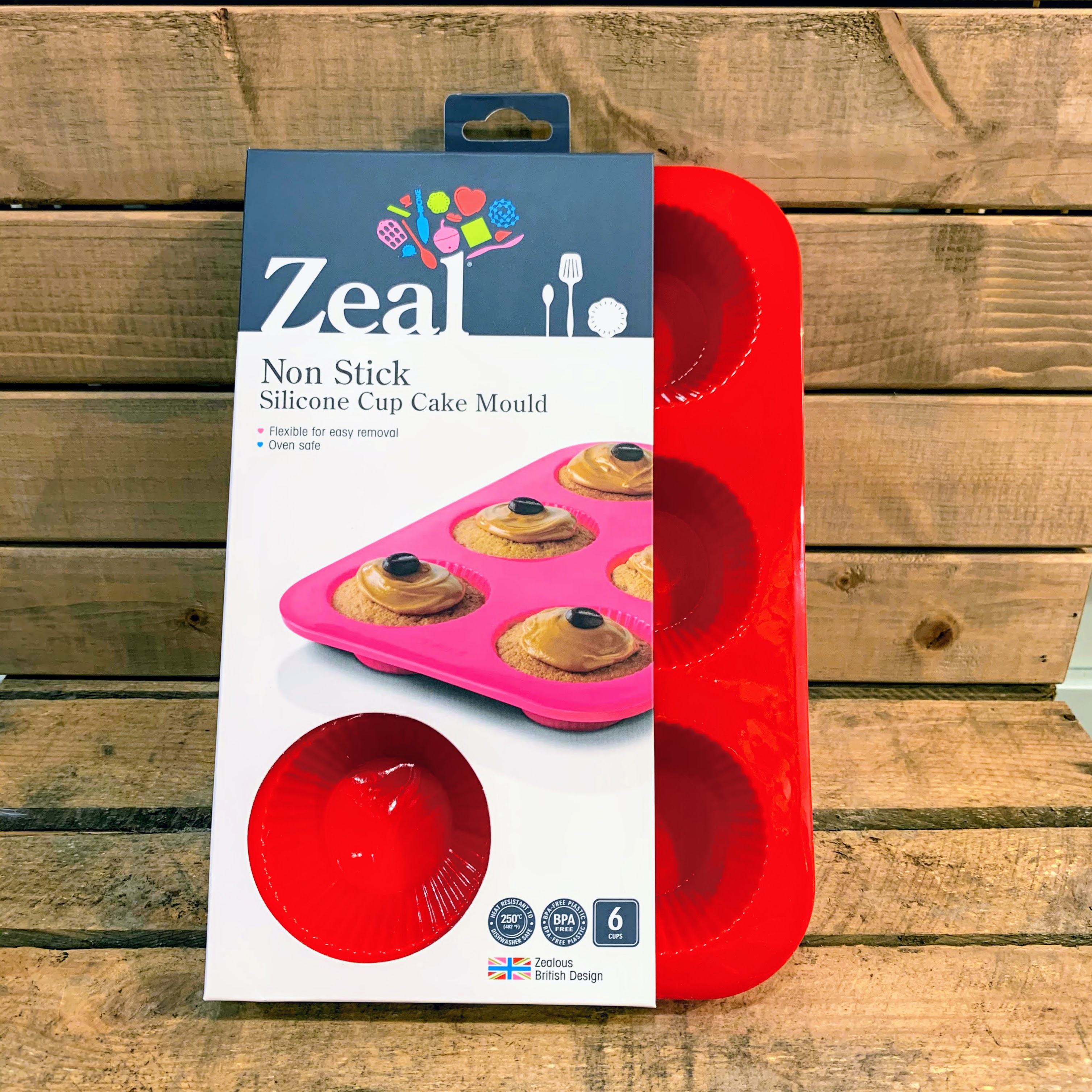 Zeal Non Stick Silicone Cupcake Mould