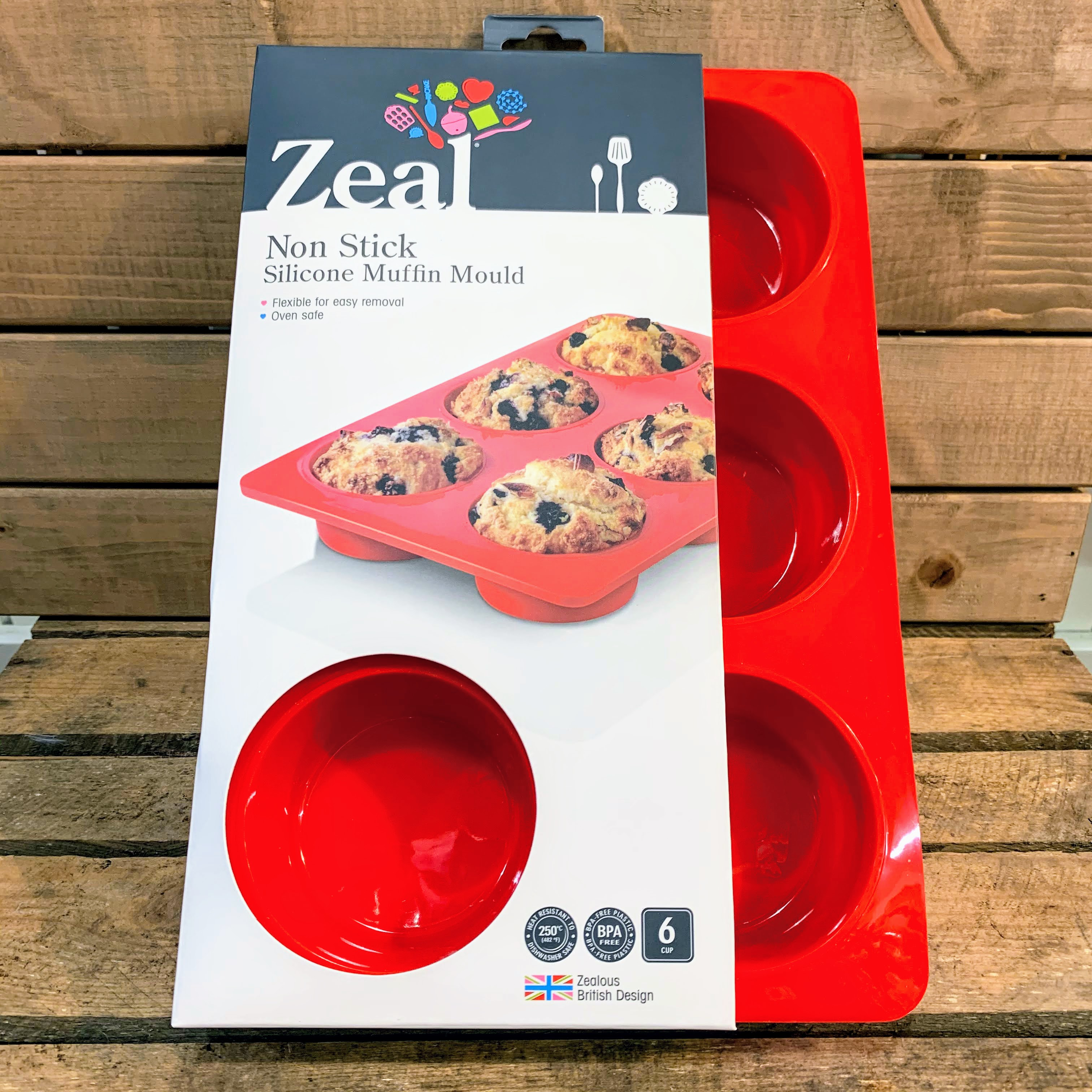 Zeal Non Stick Silicone Muffin Mould