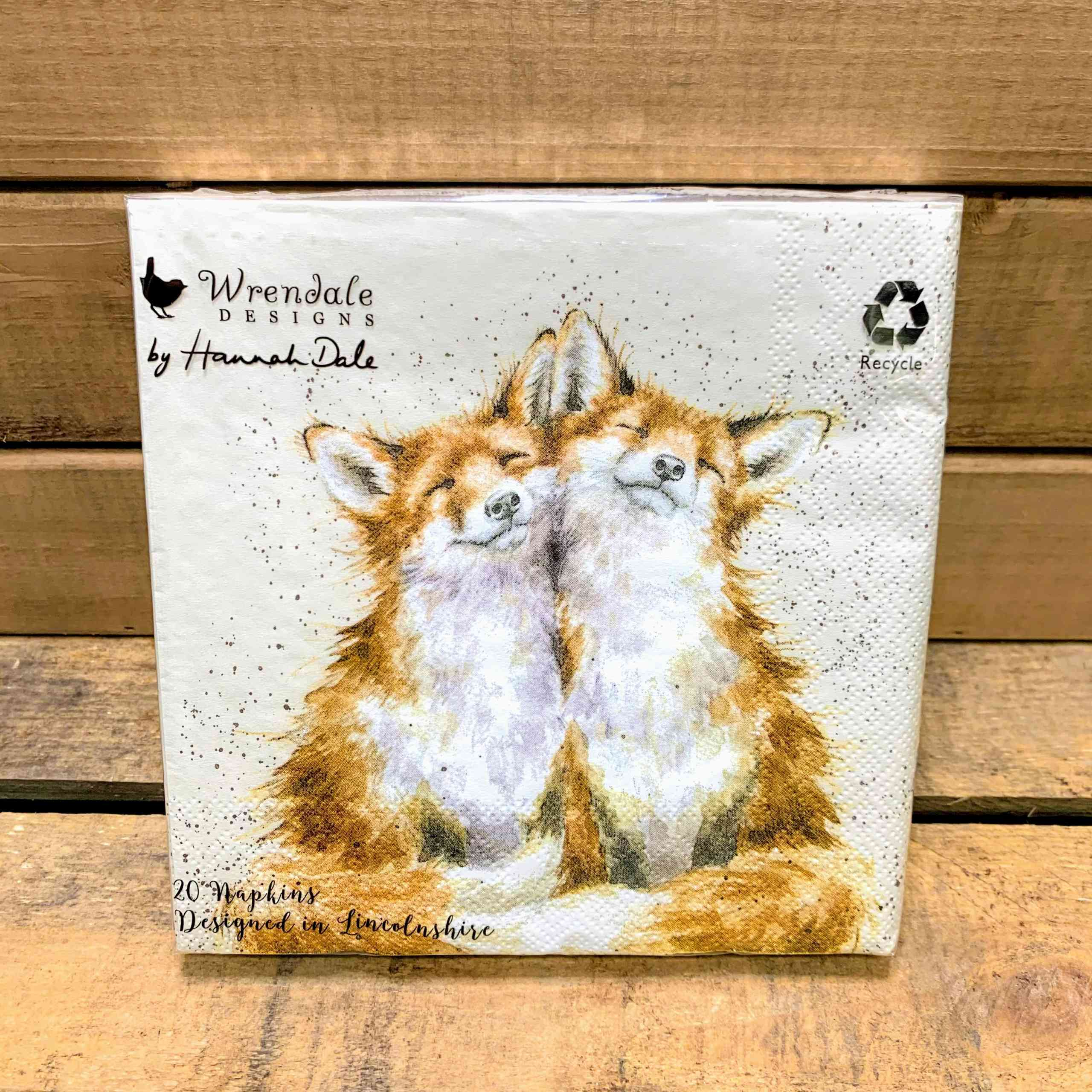 Wrendale Lunch Napkin Foxes