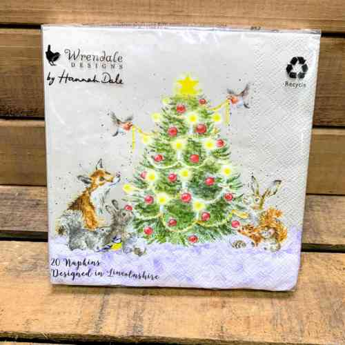 Wrendale Lunch Napkins Oh Christmas Tree