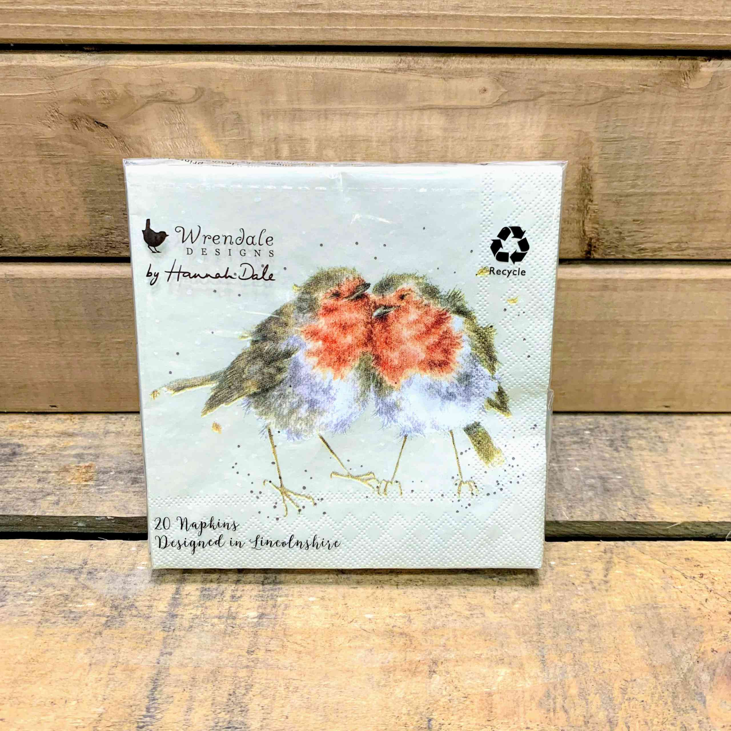 Wrendale Cocktail Napkins Robins