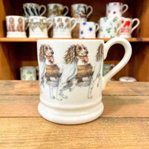 Emma Bridgewater Brown And Cream Spaniel Half Pint Mug