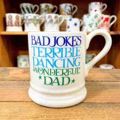 Emma Bridgewater Blue And Green Toast Wonderful Dad Half Pint Mug