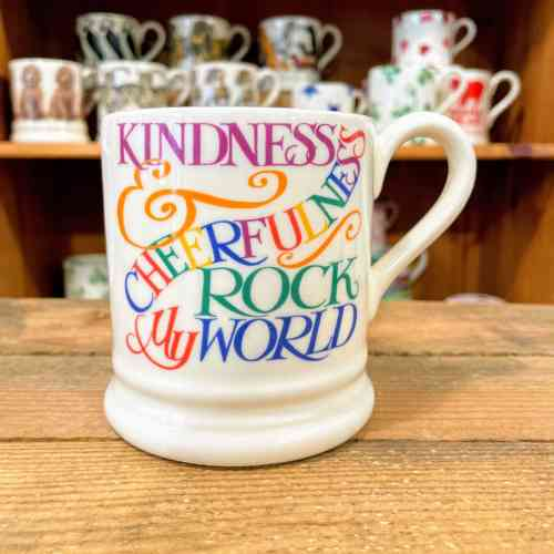 Emma Bridgewater Rainbow Toast Kindness And Cheerfulness Half Pint Mug