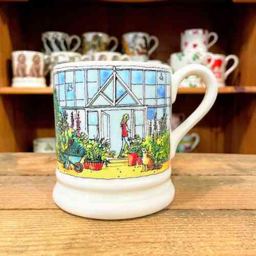 Emma Bridgewater Setting Up Home Greenhouse Half Pint Mug