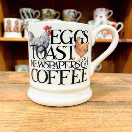 Emma Bridgewater Rise And Shine Eggs And Toast Half Pint Mug