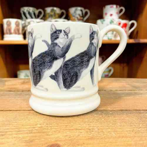 Emma Bridgewater Black And White Cat Half Pint Mug