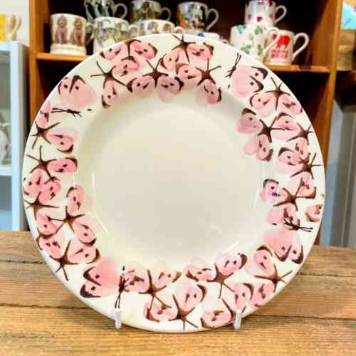 Emma Bridgewater Pink Cabbage White Butterfly 8.5 Inch Plate