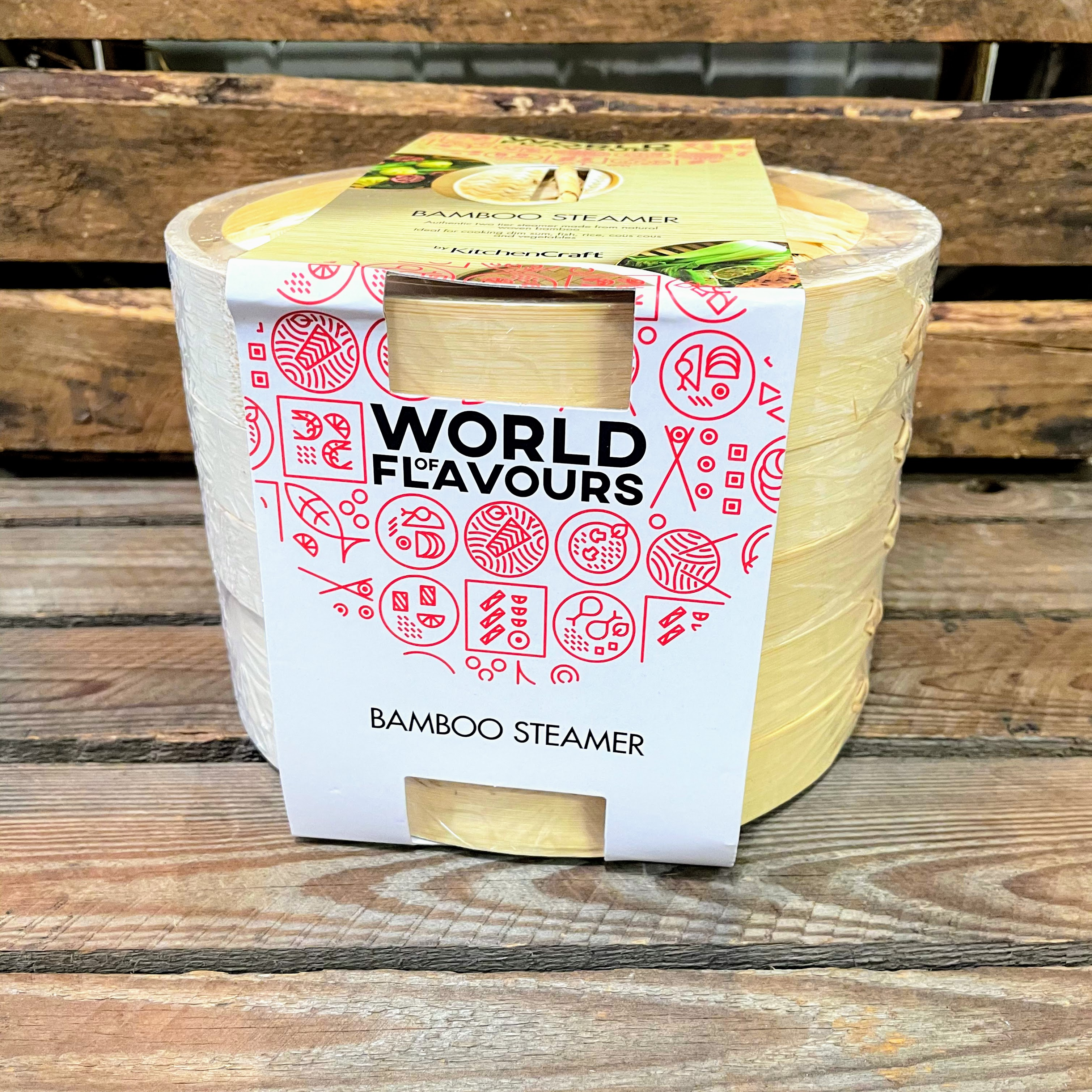 World Of Flavour Bamboo Steamer